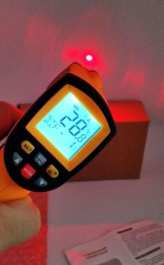 thermometre grde infrarouge pointage