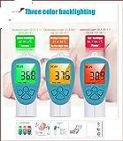 Thermomètre d'Hylogy pour le bébé, l'enfant et l'adulte, avec le grand affichage numérique, lecture rapide, mesure professionnelle précise Thermomètre infrarouge de Digitat (blanc)