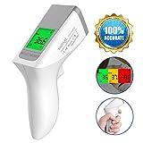 Thermomètre Bébé, NURSAL Thermomètre de front Thermomètre frontal infrarouge medical à double mode avec lecture instantanée, écran LCD rétroéclairé, sécheresse de couleur de la fièvre