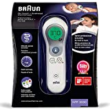 Braun Thermomètre Sans Contact + Frontal, NTF3000