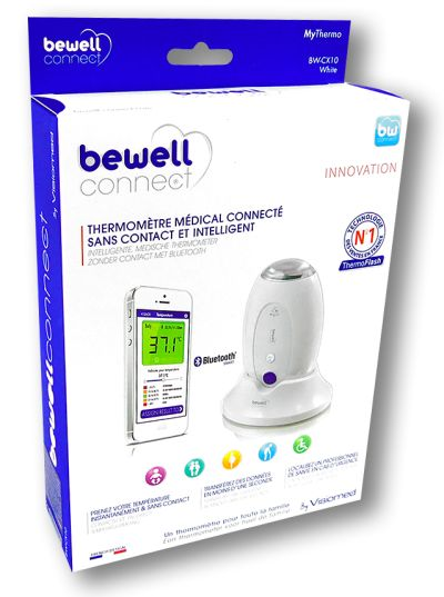 Thermomètre connecté Bewell MyThermo boite