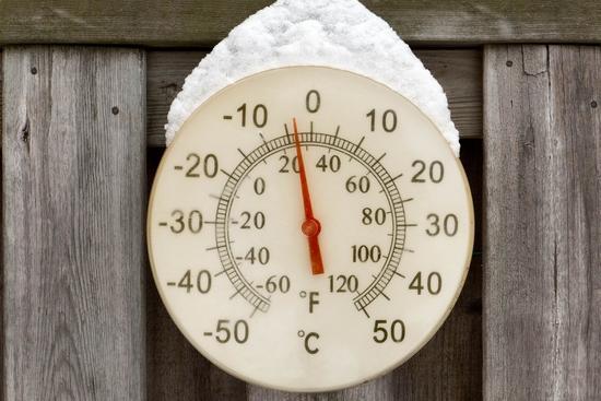 thermomètre Fahrenheit Celsius bois