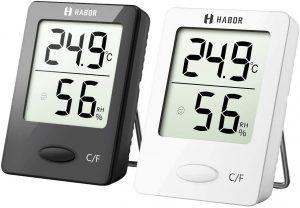 thermometre hygrometre noir blanc